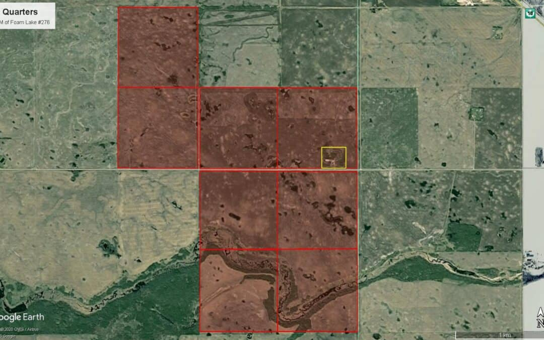 1,271 Contiguous Acres of Grainland Near Foam Lake, SK