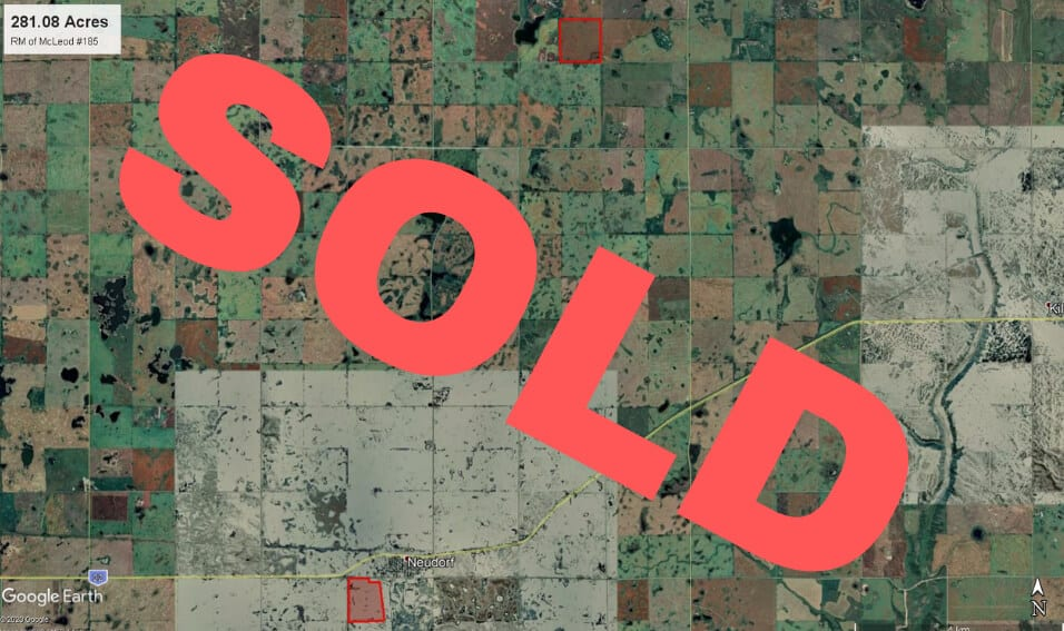 SOLD! 281 Acres Near Neudorf, SK